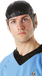 Spock Wig &amp; Ears Adult Star Trek Fancy Dress